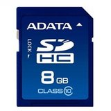Secure Digital Card SDHC 8GB class10 ADATA
